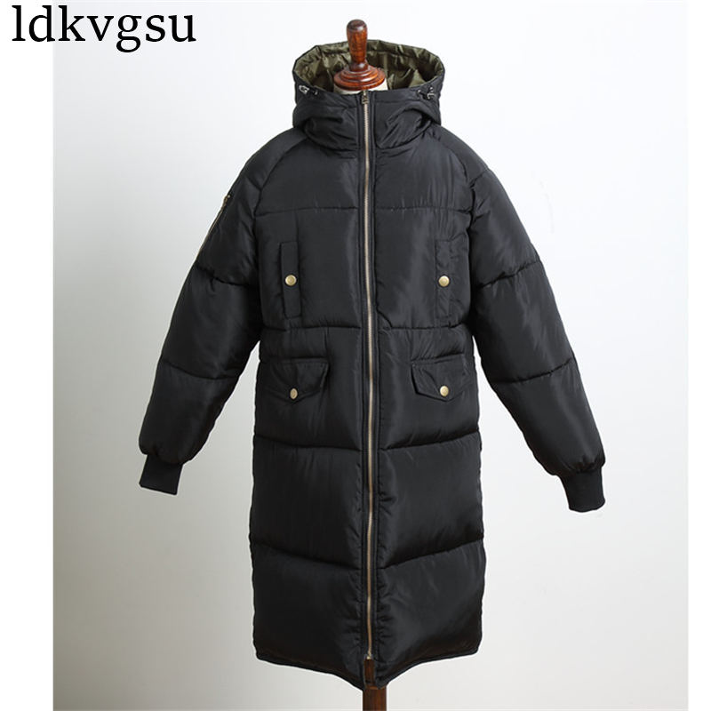 Plus Size 3XL Winter Loose Cotton Coats 2019 New Thick Warm Female Jackets Long Parkas Outwear Winter Jackets Women Cotton Coats