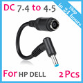 Female7.4x5.0mm to 4.5x3.0mm Ac Power Cord Charger Laptop Adapter Tip Connector Converter for Hp Dell etc