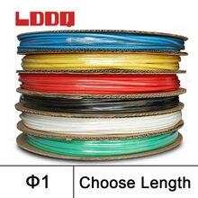 LDDQ 200 м * 1 мм термоусадочная трубка 2:1 Термоусадочные Трубки Трубки 600 и 1000 В Низкого давления тепла sleving Кабель Трубки termoretractil