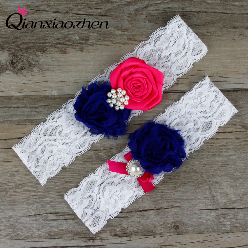 Wedding Leg Garter: Aliexpress.com : Buy Qianxiaozhen Dark Blue And Fuchsia
