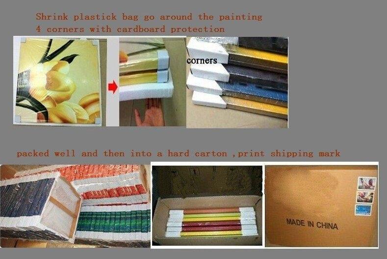 Pintados à mão pintura a óleo casa