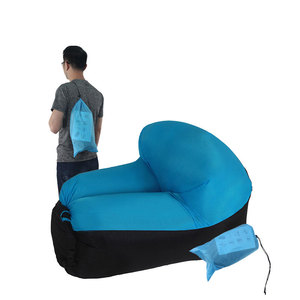 Image 4 - Outdoor Furniture Inflatable Camping Chair Beach Chair Sofa For Hiking Picnic And Fishing Rest Folding Air Lounge Sofa Bed
