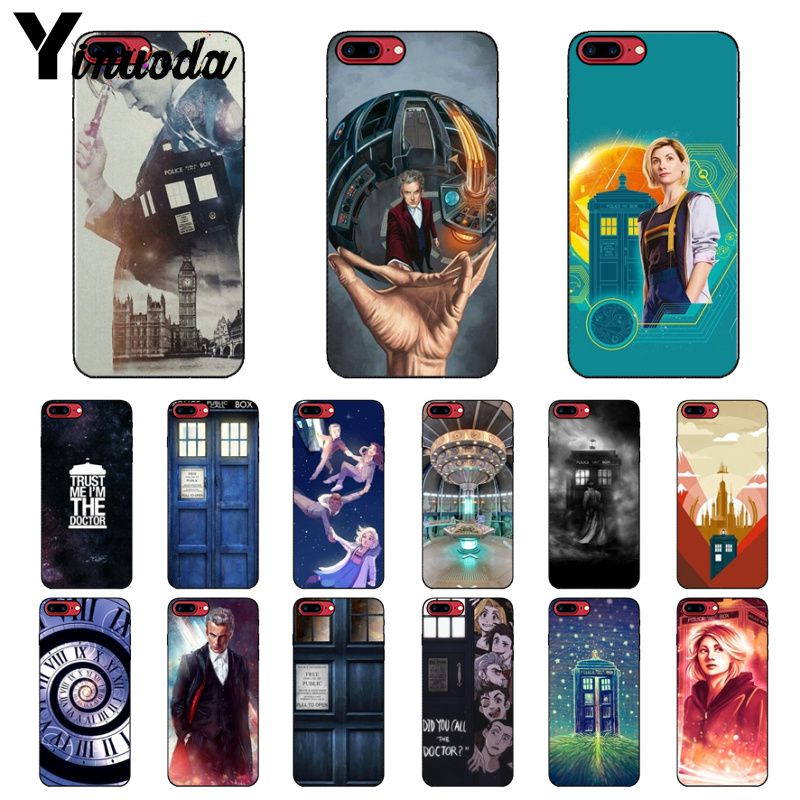 Yinuoda Tardis Box Doctor Who Diy Luxury High-end Protector Case For Iphone X Xs Max 6 6s 7 7plus 8 8plus 5 5s Se Xr Removing Obstruction Half-wrapped Case