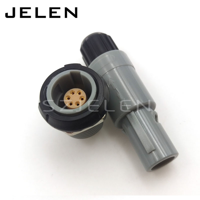 SZJELEN 6 pin connector Plug and socket, SZJELEN 1P series plastic PAG/PLG 6 pin, Medical Power wire connector