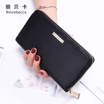 Women's leather wallet cowhide large capacity multi-card clutch bag fashion long zipper purse genuine leather bag for women