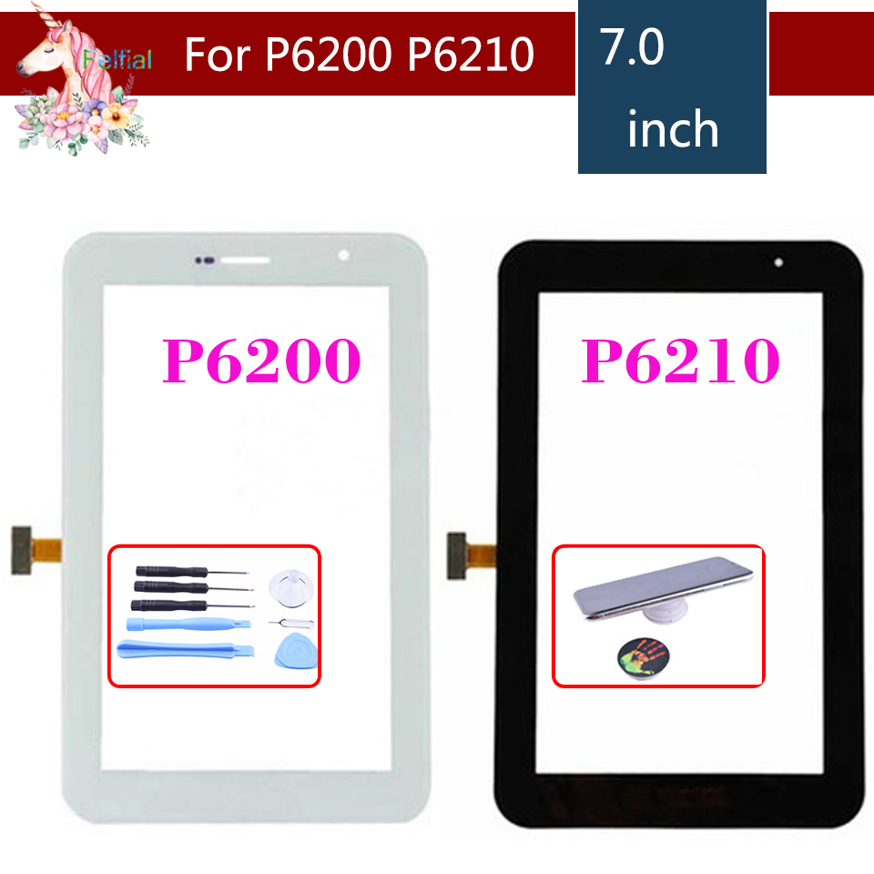 "Original 7.0"" For Samsung Galaxy Tab 7.0 Plus P6200 and P6210 Touch Screen Digitizer Panel Sensor Replacement