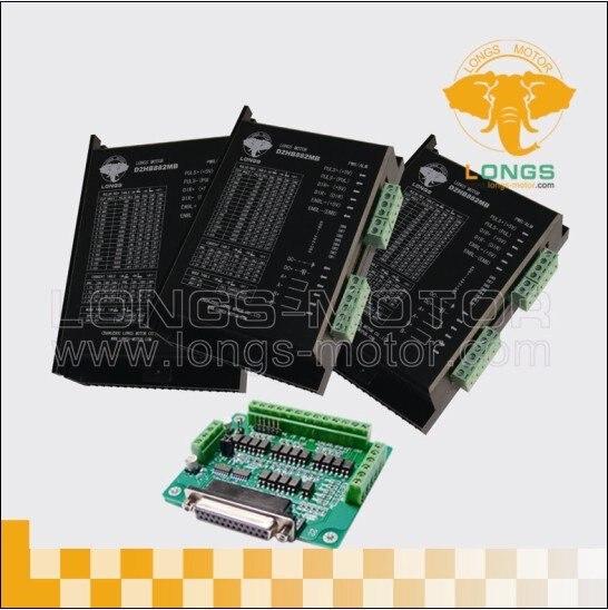 3 Achsen schrittmotortreiber SPITZEN 7.8A, 256 micsteps DM860A controller DB25 CNC-longs motor