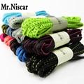 Mr. Niscar 10 Par Colorido Oval Cadarços Cadarços Athletic Sports Sneaker Multi-Cor Poliéster Cadarço Bootlaces Cordas