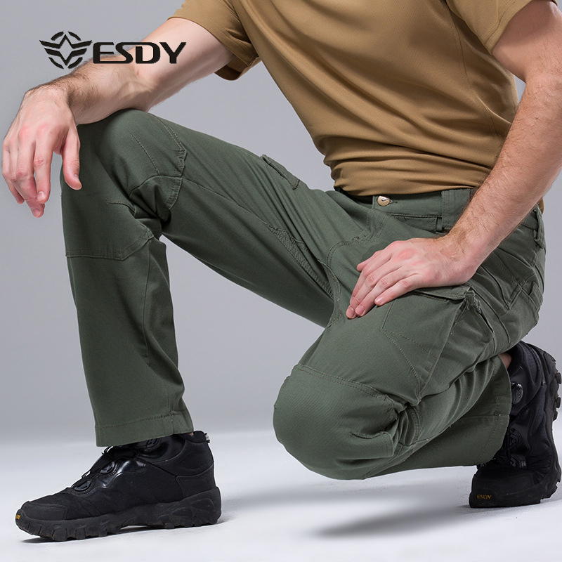ESDY Waterproof Outdoor Hiking Long Pants Men Softshell Military Sport Trousers Windproof Man Hike Trekking Pantalon