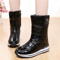 High Quality Women Boots 2017 New Arrivals Waterproof Thick Plush Women Winter Shoes Slip Resistant Platform