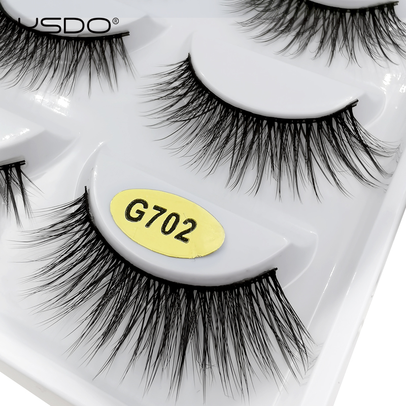 5 Pairs Eyeashes Natural Long Mink EyeLashes 3D Mink Hair Lashes Dramatic 100% Fluffy Volume Fake Lashes Soft False EyeLash G702