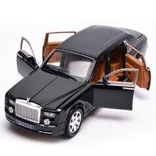 1/24 Scale Phantom Luxurious Car Model Diecast Vehicle Toys Hot Alloy Auto Wheels Simulation Cars Toy For Boy Gifts Collection