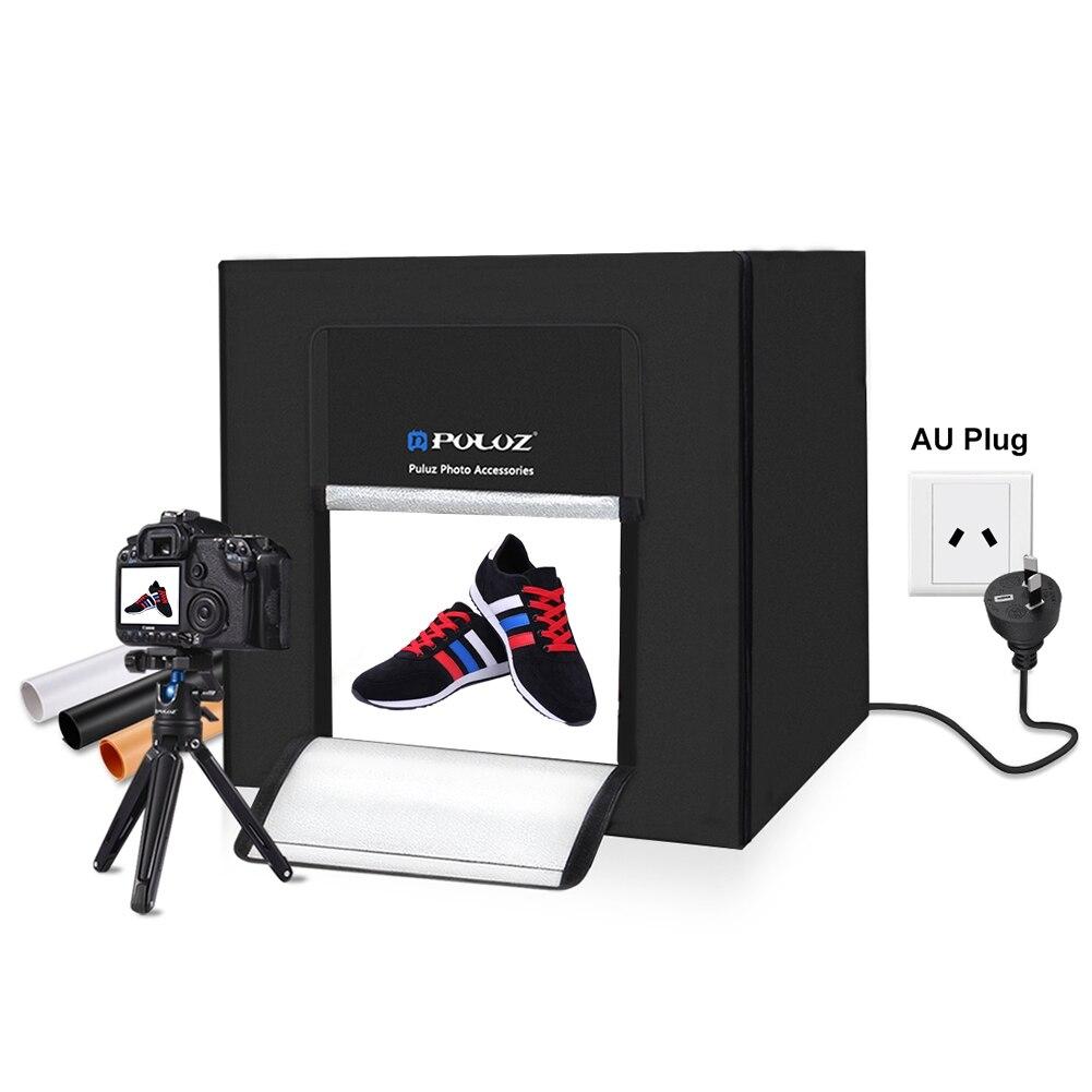 PULUZ Photo Studio Boîte à Lumière 80 cm Tir Lumière Tente pour les Bijoux Jouets comprennent Plug UA et 3 Décors vente photographie Softbox