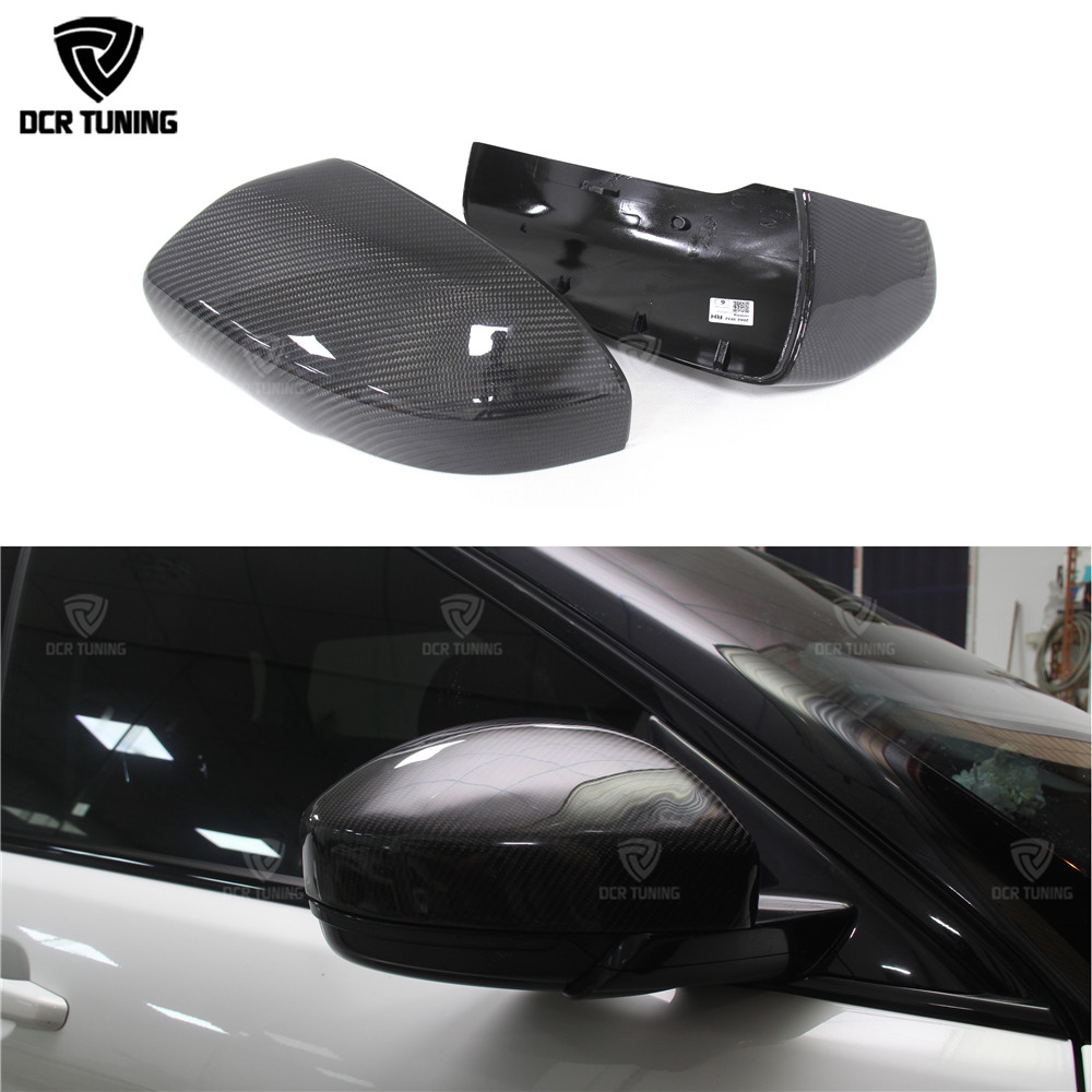 For land rover range rover evoque 2014 2015 2016 carbon fiber rearview mirror cover Add on style & Replacement Style for cadillac ats full add on style carbon fiber mirror covers 2014 2015
