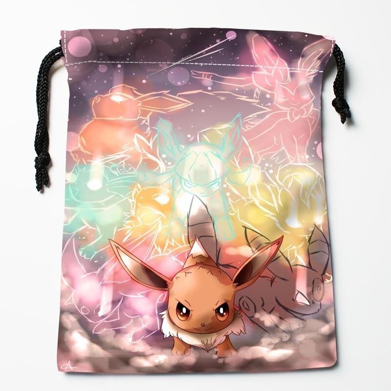 New Custom pokemon Drawstring Bags Storage Printed gift bags Custom drawstring bags Compression Type Bags