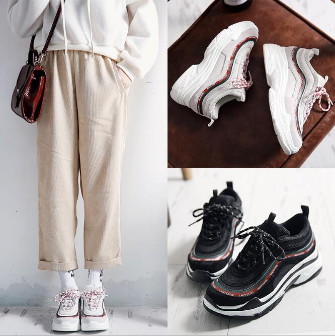 High Quality Walking Shoes 2018 New Korean Sneakers Female Spring New Ins the Hottest Shoes Student Platform Shoes WK05 high quality walking shoes thick crust sneakers female ins the hottest shoes 2018 new small white women s sport shoes wk46