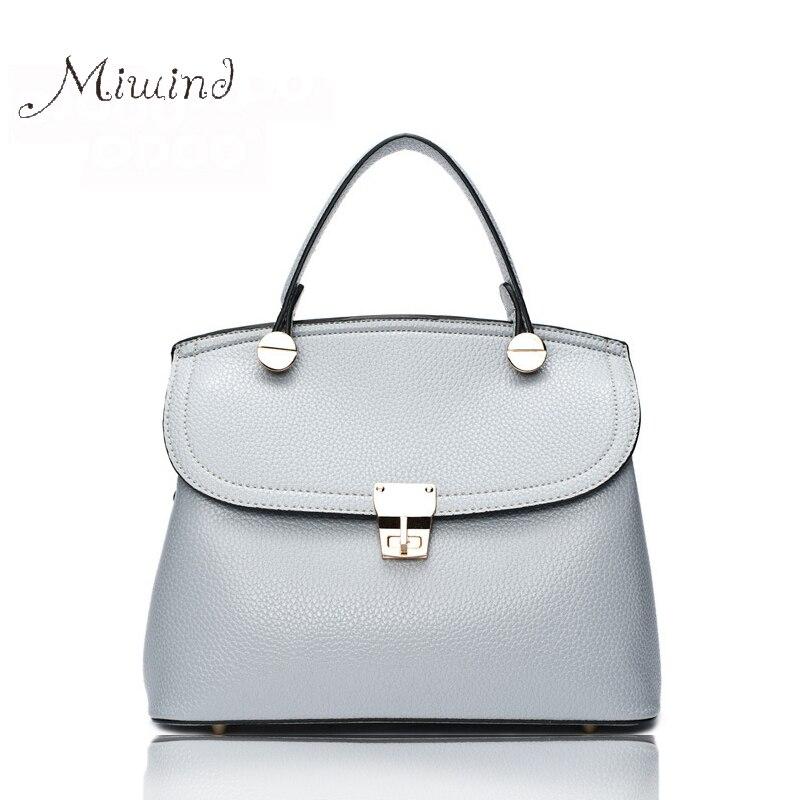 ФОТО Women Bags Handbag Tote Crossbody Shoulder Messenger Sling Designer Leather Lock Small Fashion Black Female Bolsas High Quality