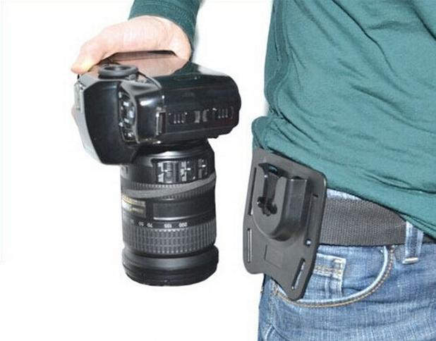 Cinto K-BM1 Camera Monte Botão Fivela Hanger Clipe Tripé Para DSLR SLR Camcorder