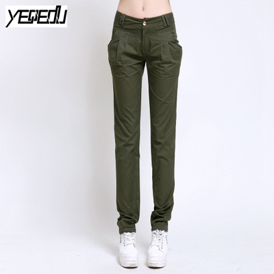 Alan women clothes #0941 2017 Summer pants for women Straight harem pants Casual Cargo pants Joggers Camuflagem mulheres Cargo pants for females