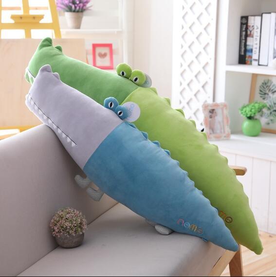 Mignon peluche jouet couleur crocodile poupée longue bande oreiller fille lit paresseux poupée Super doux dessin animé jouets grande taille