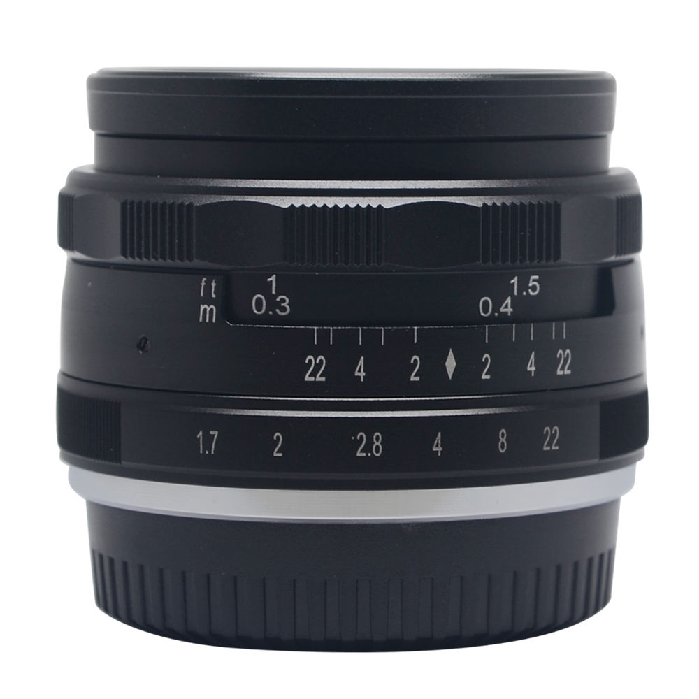 35mm f1.7 Aperture Manual Focus Lens APS-C for eosm nikon1 m43 gf6 sony nex7 Fujifilm X-A1/A2 XE1 XM1 XT1 XT10 camera vocabulario elemental a1 a2 2cd
