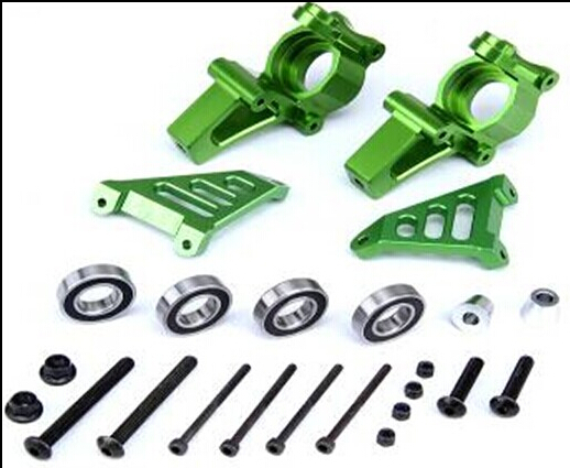 1 5 rc car gas CNC alloy metal front knuckle arm bearing front Hub Carrier set