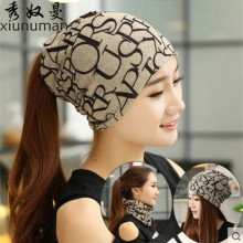 New arrival 2 Use Cap Knitted Scarf Winter Hats for Women Letter Beanies Women Hip hot
