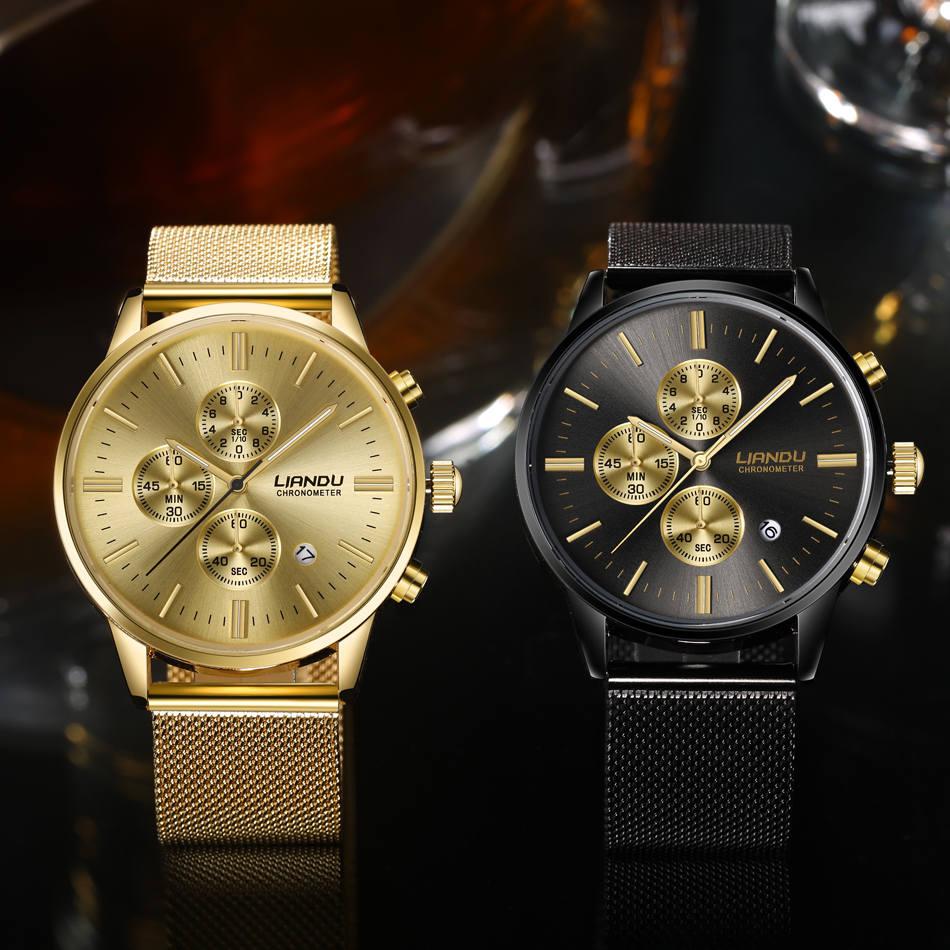 HTB1r87iQXXXXXaKXVXXq6xXFXXX7 - LIANDU Gold Black Luxury Fashion Watch for Men