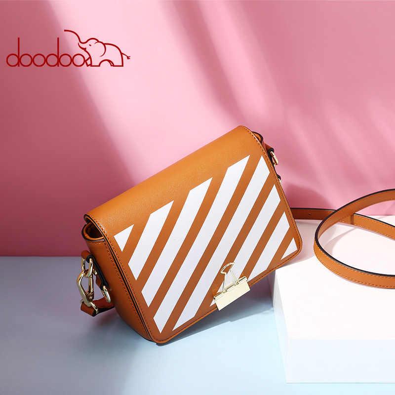 DOODOO летние брендовые сумки с полосками Для женщин кожа сумка небольшой Для женщин сумка Карамельный цвет широкие бретели Сумки