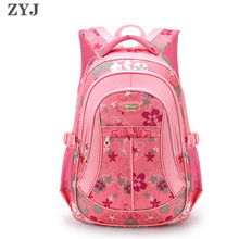 ZYJ Цветочные школьные рюкзаки для девочек, детские розовые повседневные Рюкзаки для студентов, рюкзак, сумка Mochila