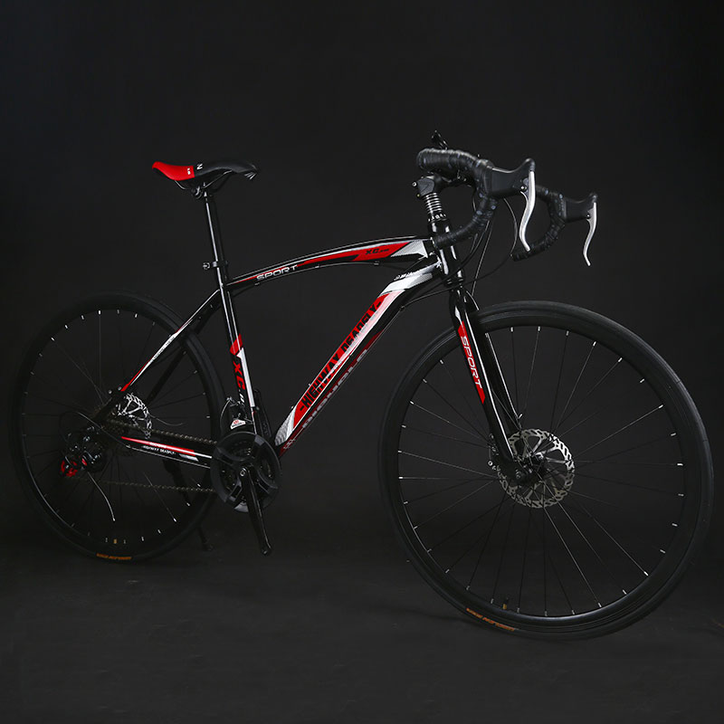 Road Bike Fixed Gear Bicycle 26 inch 24 27 Speed Shift Bend Double Disc Brake Adult Road Bike Fixed Gear Bicycle 26 inch 24/27 Speed Shift Bend Double Disc Brake Adult Student Men And Women