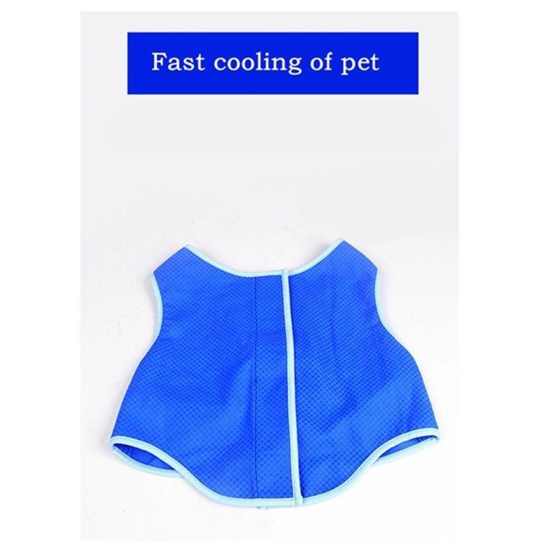 f9defe6b65f92 Pet Dog Cat Blue Cooling Vest Summer Cool Pup Coat Cooling Jacket ...