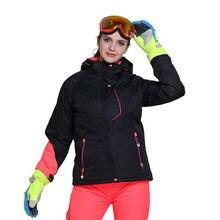 Korean Winter Women Waterproof Ski Jacket Solid Color Ladies Thick Snow Jacket Windproof -30 Degree