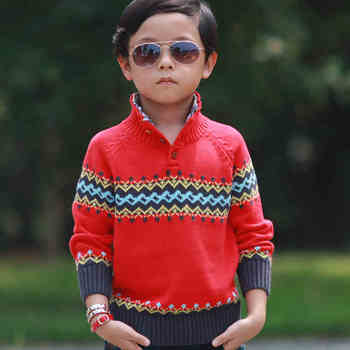 2018 spring children's clothes boys sweaters solid stand collar cotton boy knitted pullovers sweaters for boys kids outerwears