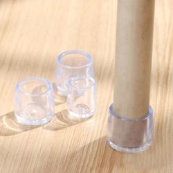 8Pcs Móveis Tabela Perna Da Cadeira Piso Pés Cap Protetor Tampa Transparente 5 tamanhos