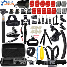 For Gopro Accessories Set Helmet Chest Head Mount Strap for Go pro Hero 4 3 5 accessories xiaomi yi camera EKEN H9 21B