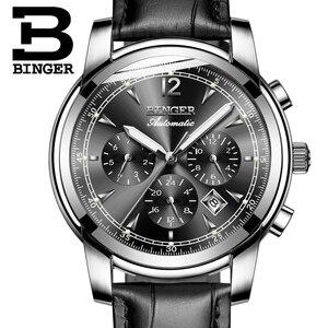 Image 4 - Szwajcaria automatyczny zegarek mechaniczny mężczyźni Binger luksusowej marki zegarki męskie Sapphire zegar wodoodporny reloj hombre B1178 20