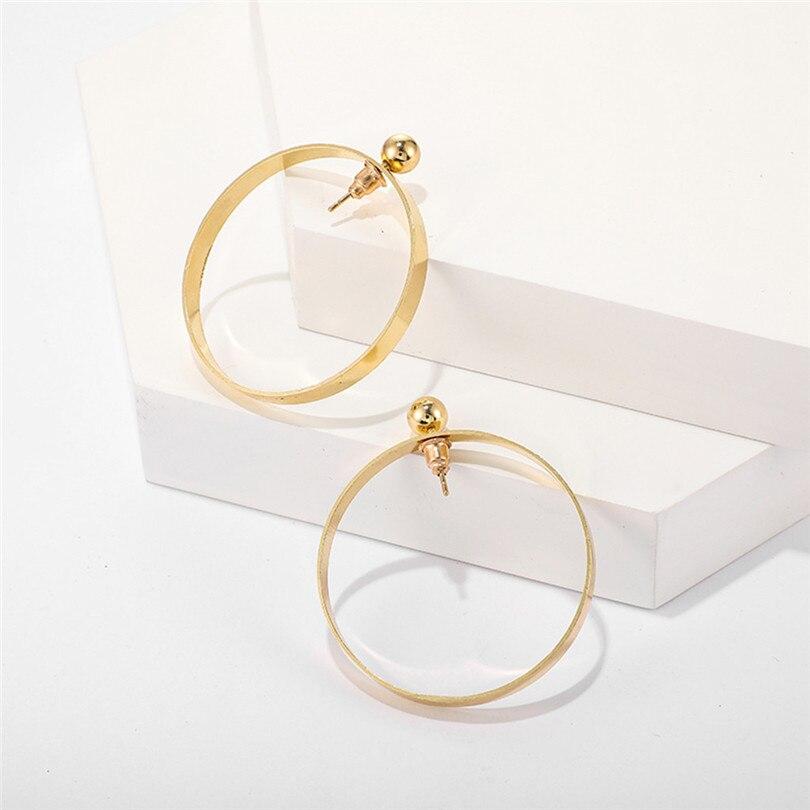 Big Round Earrings For Women Fashion Hollow Earrings Women Fashion Retro Big Circle Bead Pendant Alloy Earring Bijoux 30JUL167