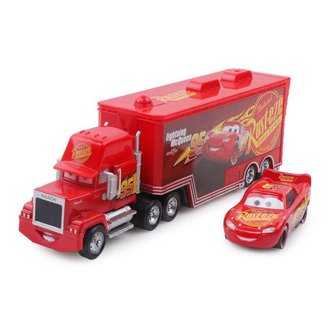 Дисней Pixar Тачки 2 3 игрушки Молния Маккуин Джексон шторм мак грузовик 1:55 литая под давлением модель автомобиля для детей рождественские подарки - Цвет: Two cars 3