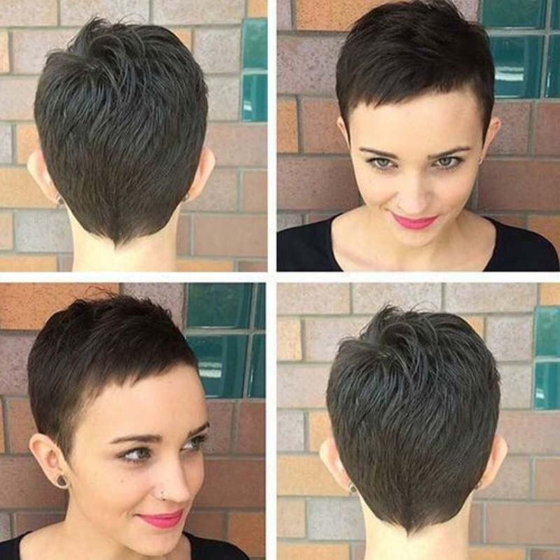 Brazilian Straight Hair Weave Short Virgin Human Hair 28