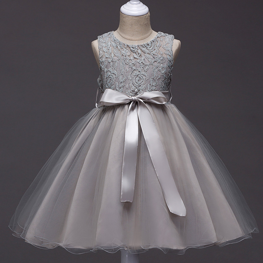 2018 New Fancy Kids Girls Wedding Girl Lace Dress Princess Pageant Formal Dress Prom Little Baby Girl Birthday Party Dress 10 12 2017 new beading lace v neck flower girl dress baby prom girls dress holy first communion dress kids birthday princess dresses