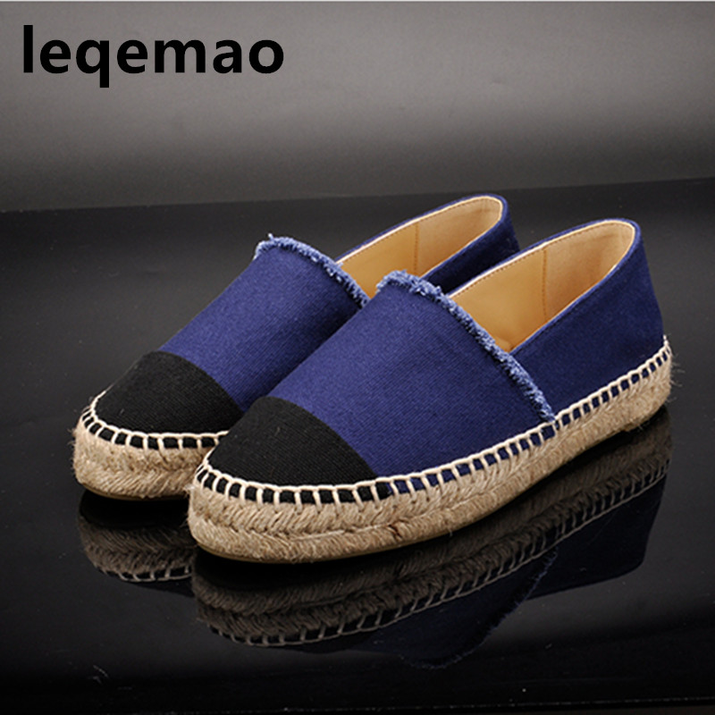 New Fashion 2018 Spring Autumn High Quality Women's Espadrilles Shallow Canvas Shoes Girls Loafers Flats Casual Shoes Size 34-42 поло для мальчика sela цвет синий tsp 811 311 8152 размер 152 12 лет