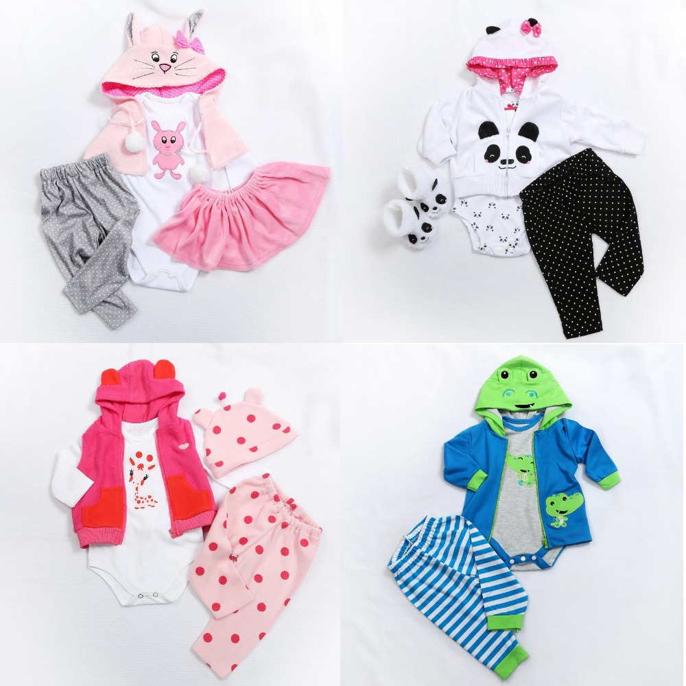 Reborn Baby Doll Clothes Fit For 45-48cm 58-60cm Bebes Reborn Bonecas Silicone Reborn Baby Doll Accessoreis Child Gift