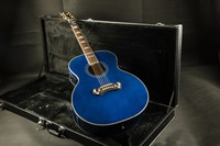 G J200 Super Jumbo Standard Acoustic Electric Guitar blue color with fishman EQ