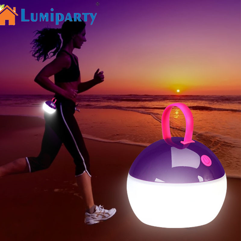 LumiParty LED Camping Light Portable Lantern USB Powered Outdoor Tent Light Water-Resistant with Hanging Hook