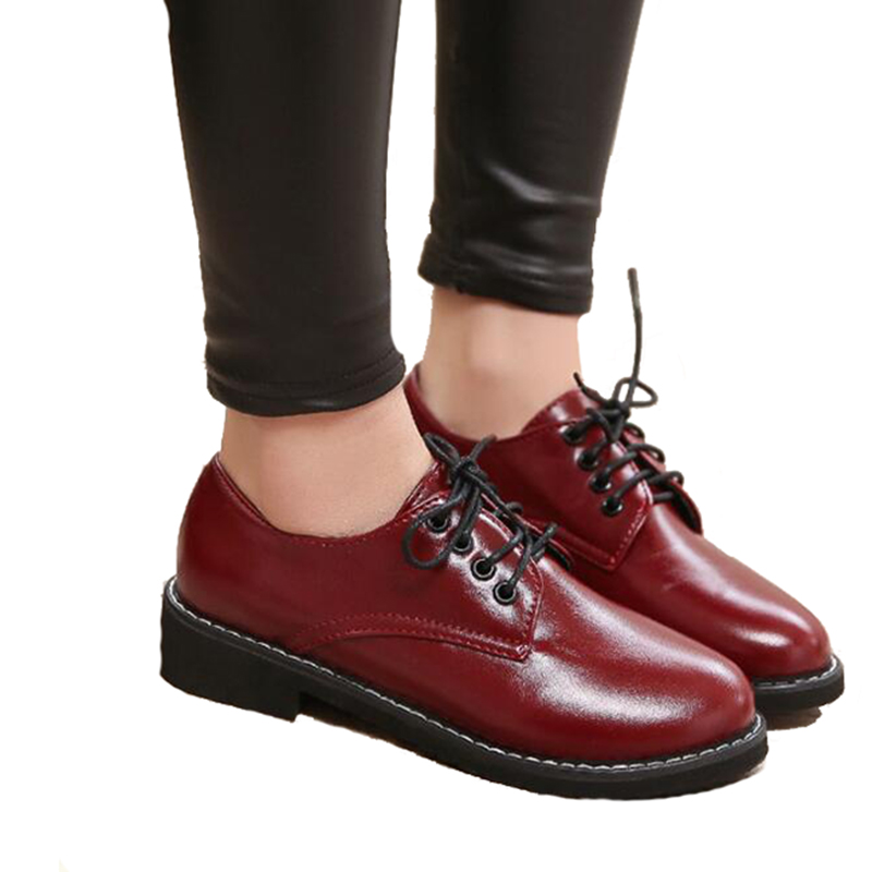 Rouge Formelle Black Solides Printemps Lady Red Chaussures Femme Lacets 2019 wine De Robe Covoyyar Wfs6 À Oxford noir Appartements Automne Femmes Base q7nHa