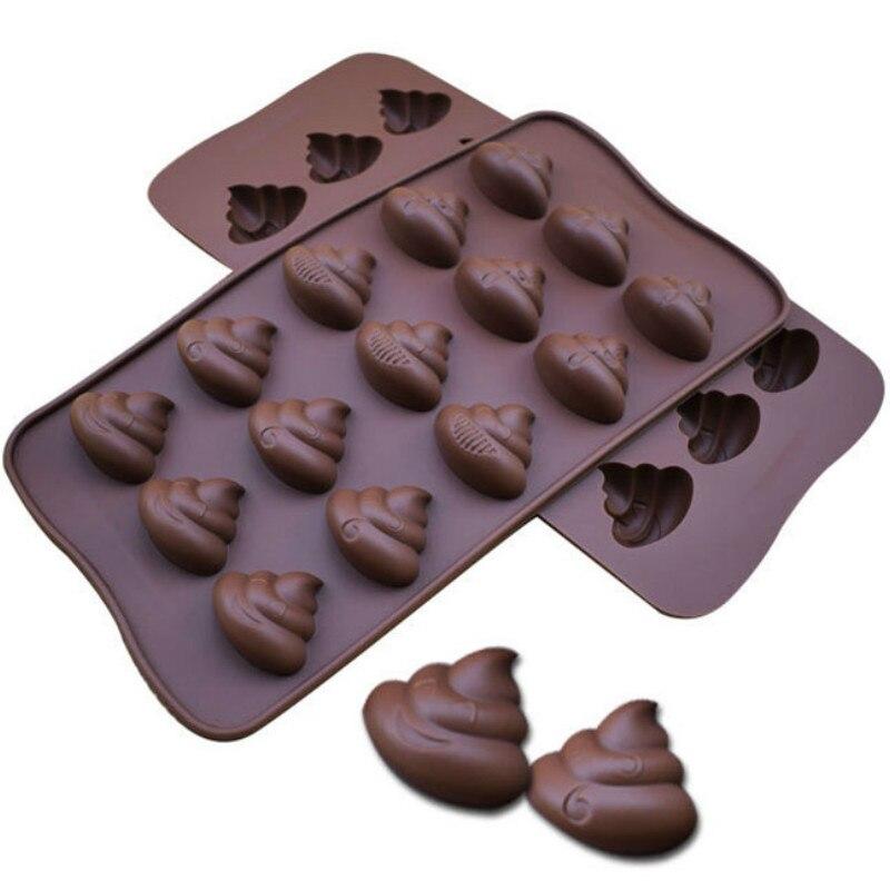 15 In 1 Creative Funny Kruk Expressie Serie Siliconen Cakevorm Mode Diy Keuken Bakvormen Chocolade Taart Hulpmiddel Schimmel