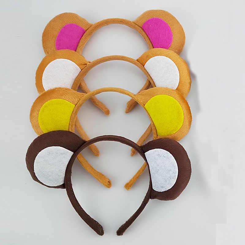子供大人パーティーハロウィン猿動物耳ヘアバンドカチューシャテール動物コスプレハロウィン衣装子供のためのクリスマス