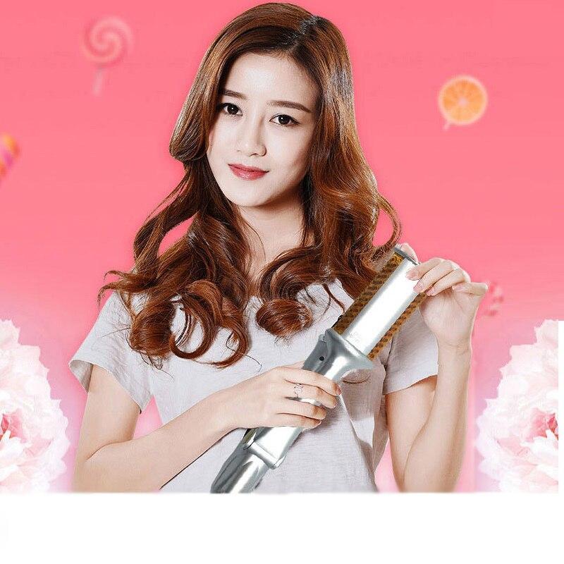 2 In 1 Automatic Hair Curling Iron Ceramic Tools Ondulador De Cabello Wand For All Types 360 Rotating - Tenacillas Pelo Profesio
