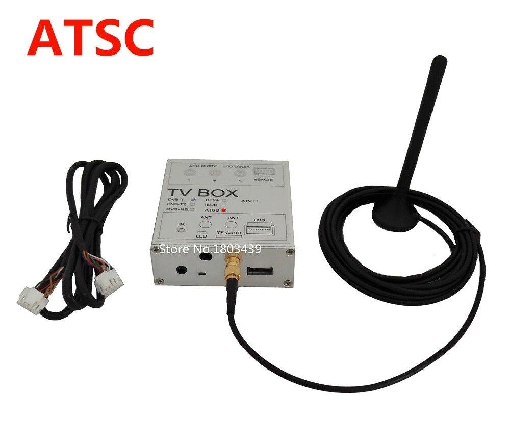 Специальный автомобиль atsc цифровой ТВ-тюнер приемник с антенной для США США Канада Мексика